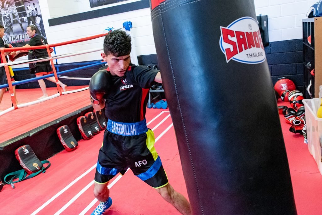 Boxing at the TKO Elite gym Chatham