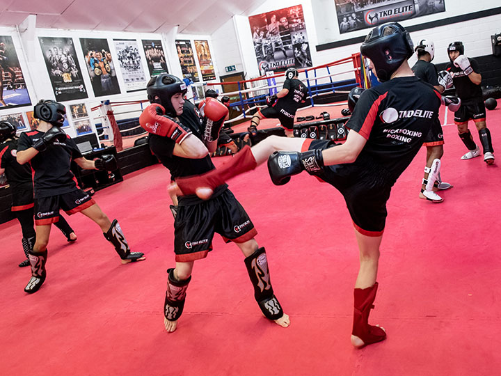 adult kickboxing sparring chatham
