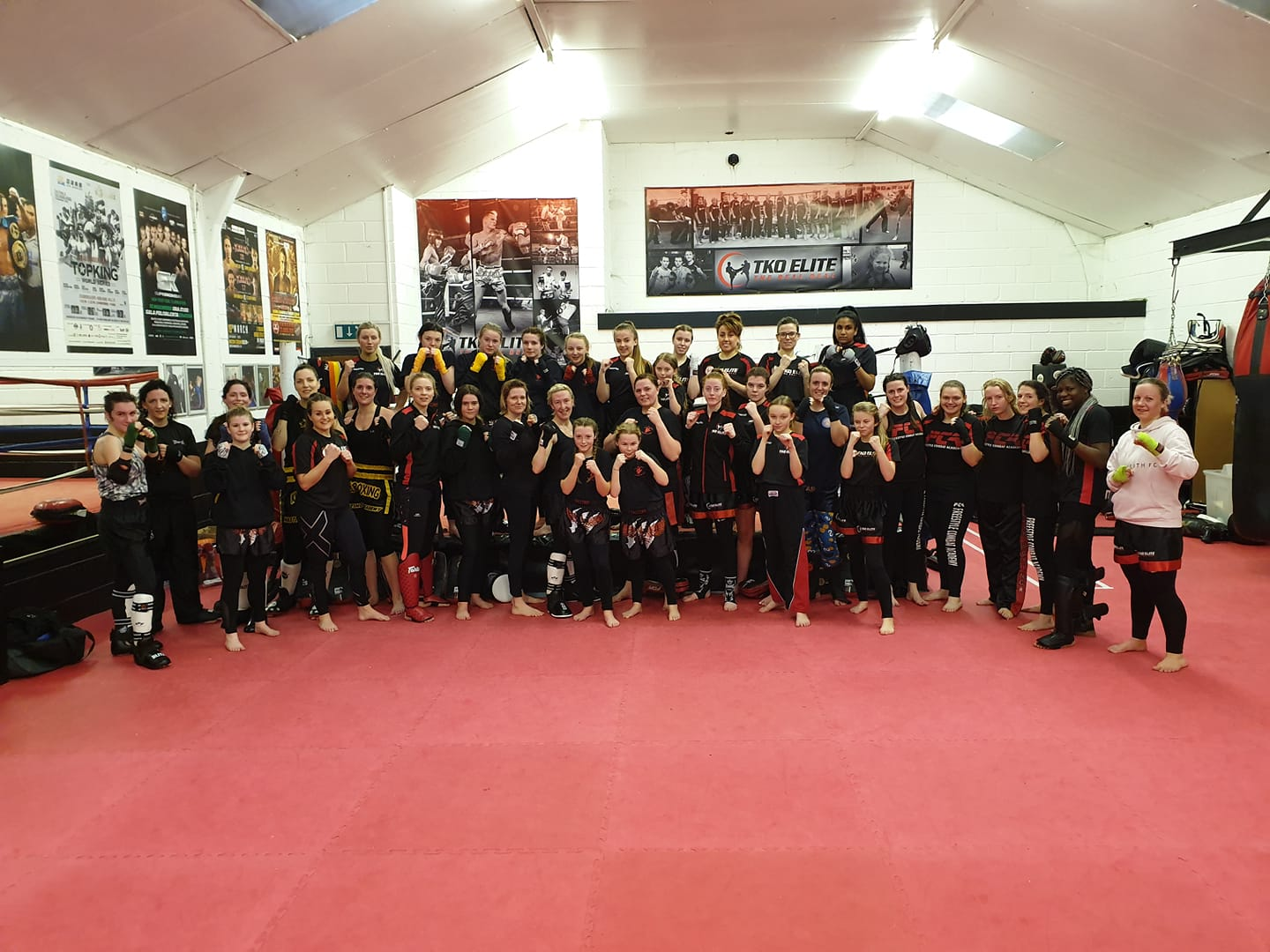 Female Kickboxing seminar TKO Elite gym Chatham kent