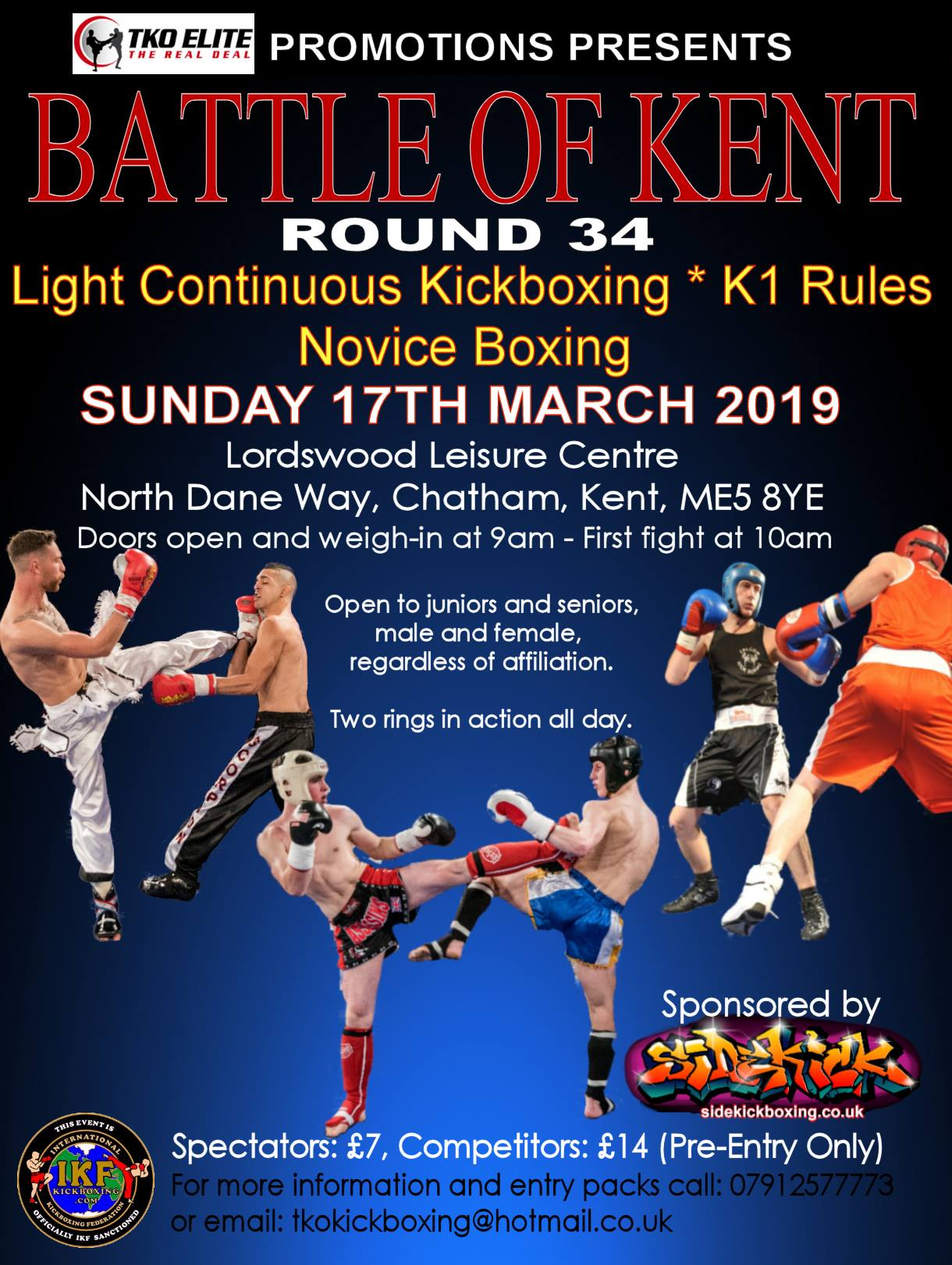 Kickboxing K1 Boxing event in Chatham